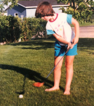 Young golfer Anne