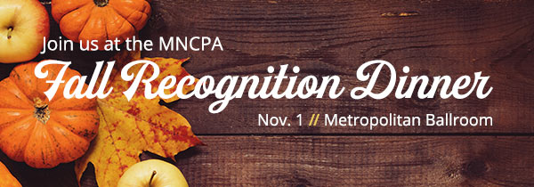 Join us at the Fall Recognition Dinner on Nov. 1