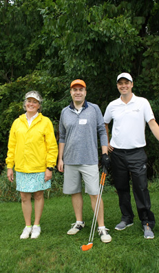 Golfer trio from last year's event