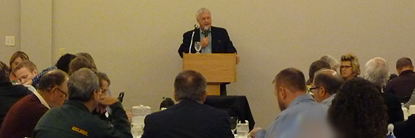 Rep. Collin Peterson addresses CPAs at the Farm Tax Update