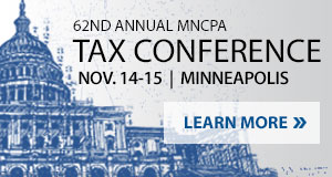 62nd Annual MNCPA Tax Conference - Nov. 14-15