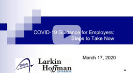 Coronavirus Guidance for Employers: Steps to Take Now