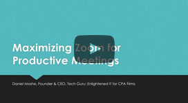 Maximizing Zoom for Productive Meetings