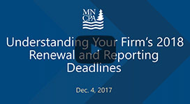 Understanding Your Firm's 2018 Renewal and Reporting Deadlines